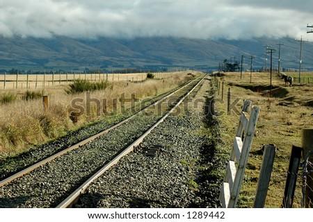 Country Railway Line - stock photo