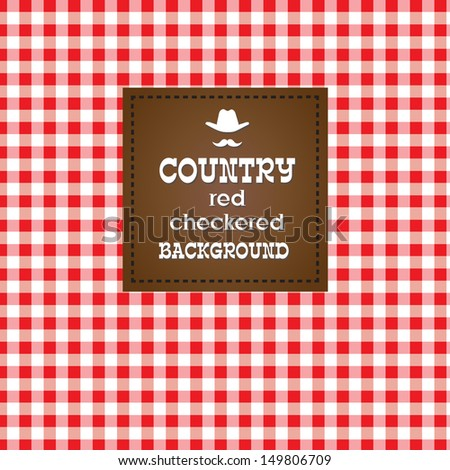 Country red checkered background.  - stock photo