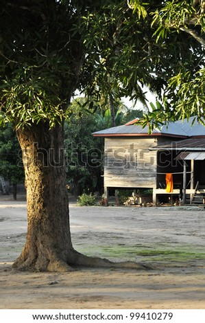 Country Retro Old House Thailand Style Vintage - stock photo