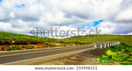 Country road. - stock photo