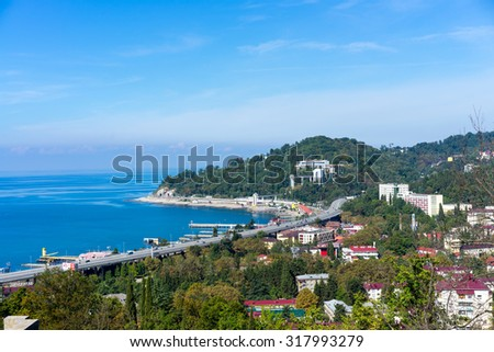 country road at the Sochi - Russian - stock photo