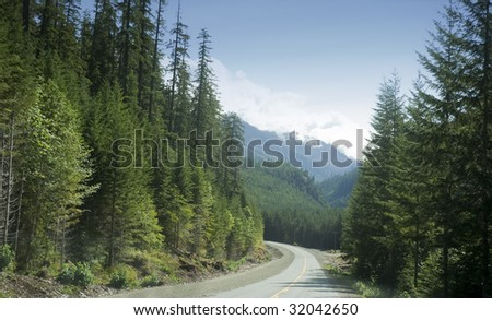 Country Road Construction Site, Canada - stock photo
