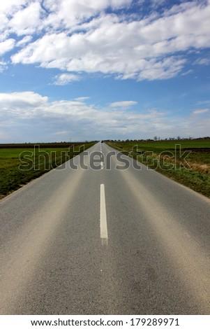 Country road in Croatia. - stock photo