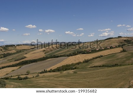 Country's landscape in the end of summer
