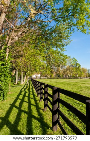 Country scenery at sunny spring day. - stock photo
