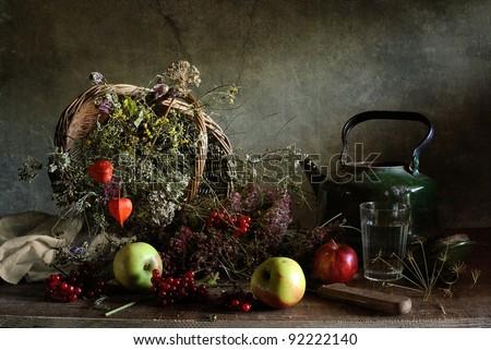 Country still life - stock photo