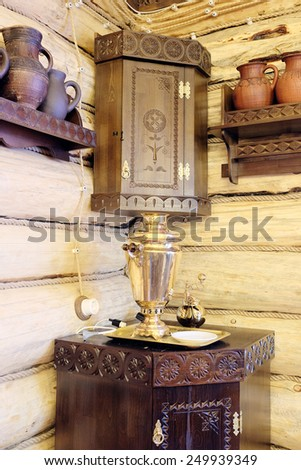 Country still life with a Russian samovar
