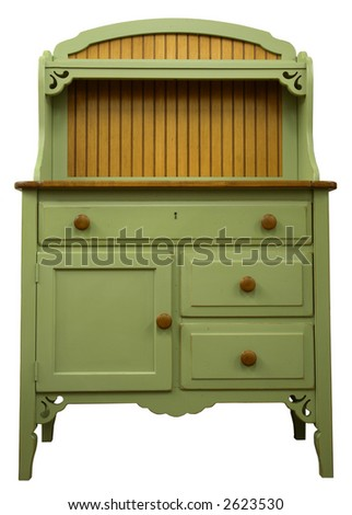Country Style Cupboard in Painted Sage Finish