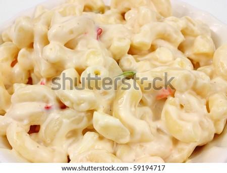 Country style macaroni salad - stock photo