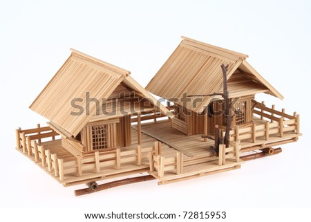 Country Style Wooden House Model
