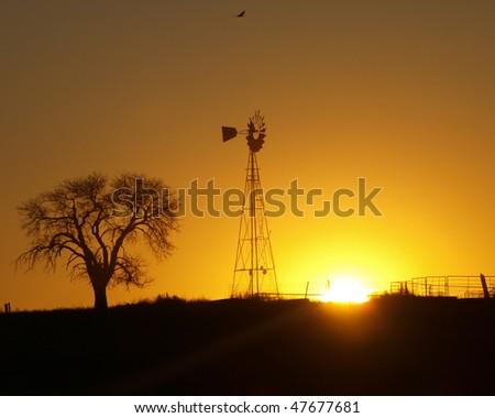 Country Sunrise - stock photo
