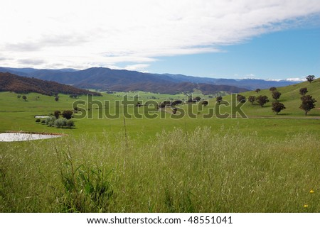 Country under Snowy mountains