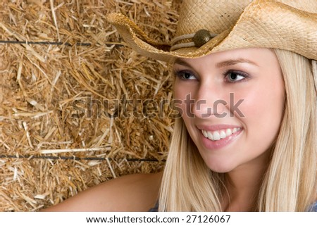 Country Woman - stock photo