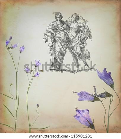 Country women illustration - stock photo