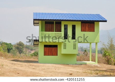 Countryside house - stock photo
