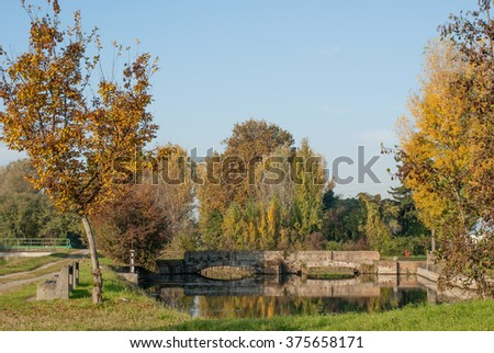countryside in autumn Italy