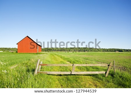 Countryside in Finland - stock photo