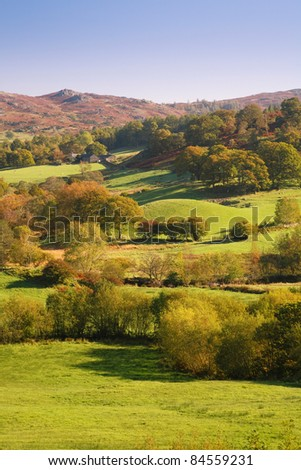 Countryside in Lake District, England - stock photo