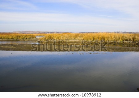 Countryside lakes and rivers surrounded by colorful prairie
