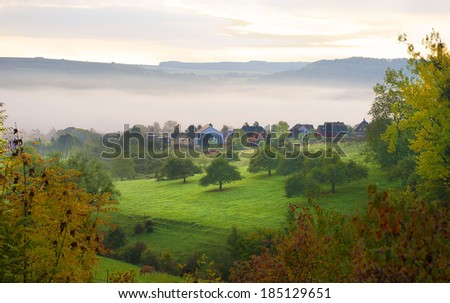 countryside landscape - stock photo