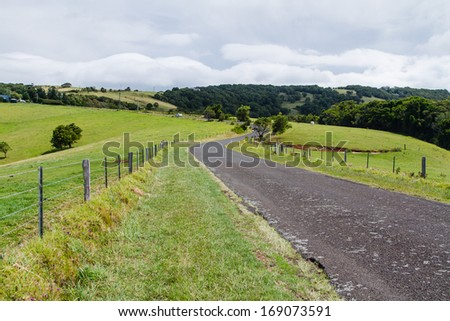 Countryside landscape in Australia