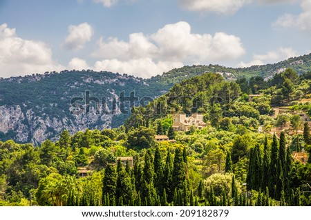 Countryside landscape of Majorca