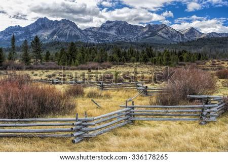 Countryside near Stanley, Idaho. - stock photo
