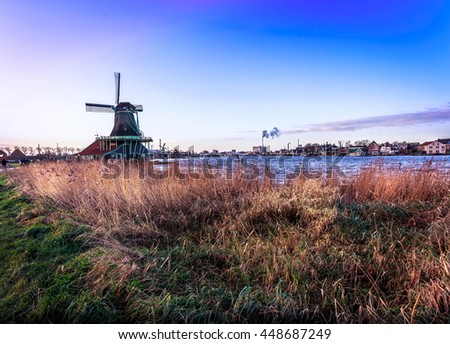 Countryside of Amsterdam - stock photo