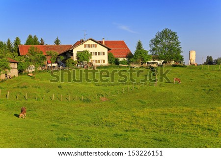 Countryside of Bavarian and Alpine Alps in Germany