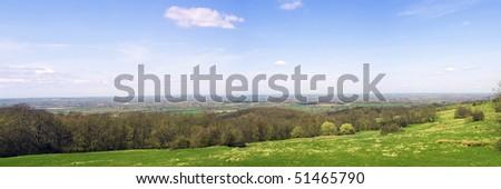 Countryside Panorama - stock photo