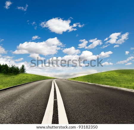 Countryside Road - stock photo