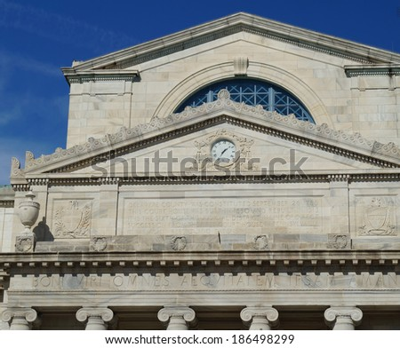County Courthouse.  A close up of a typical American courthouse building  - stock photo