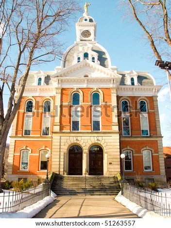 County Courthouse in winter - stock photo