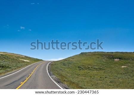 County Road  - stock photo