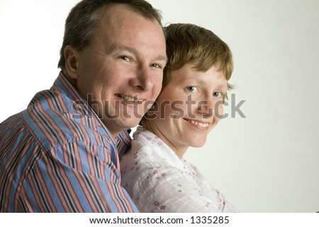 Coupe hugging - stock photo