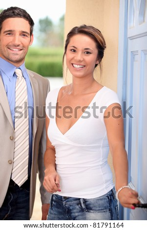 Couple about to go on a date - stock photo
