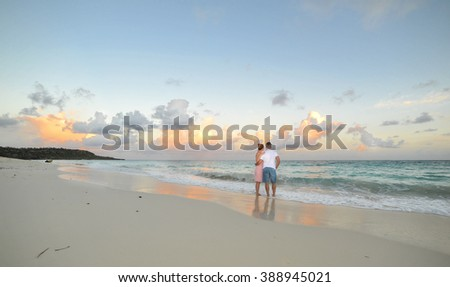 Couple at the Caribbean