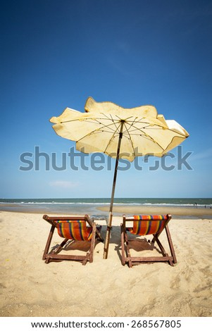 couple beach chair