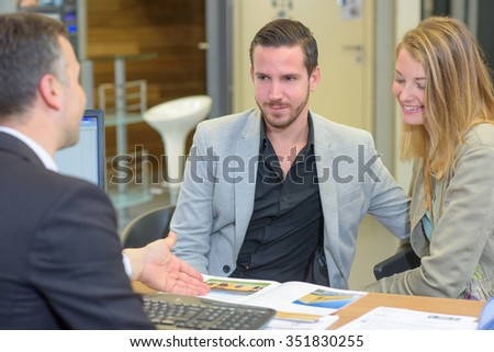 couple buying a home - stock photo