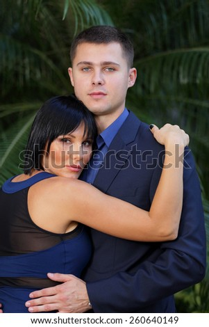 Couple close together - stock photo