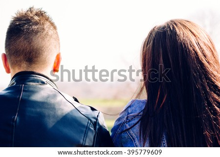 Couple conflict  - stock photo
