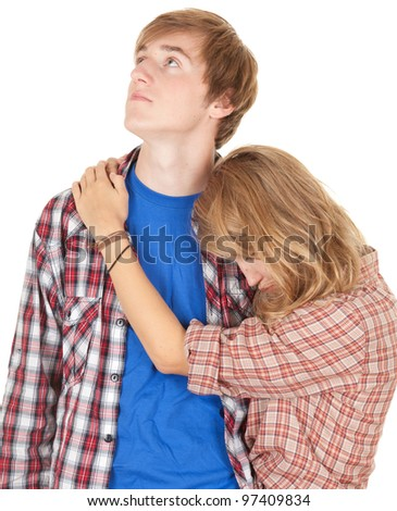 couple crisis - relationship difficulties: young couple after a fight