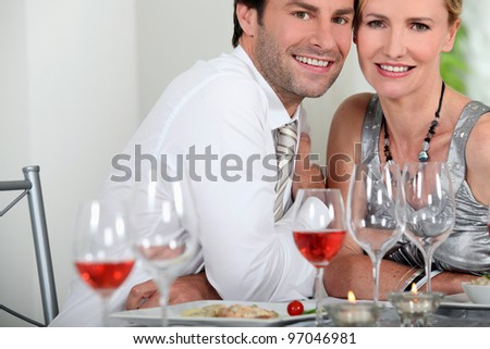 Couple dining - stock photo