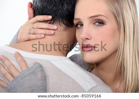 couple embracing