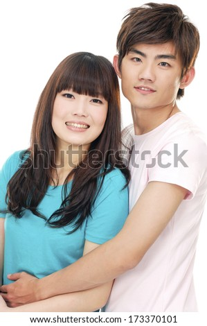 couple  embracing each other, have a good time together - stock photo