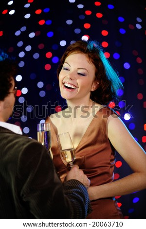 Couple flirting - stock photo