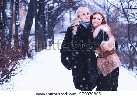 lesbins girls winter