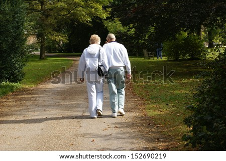 couple going out together - stock photo