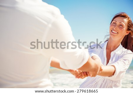 couple hand holding trust concept - stock photo