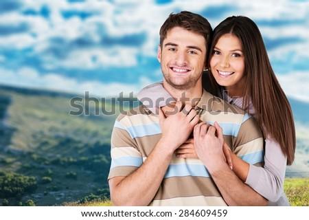 Couple, Happiness, Cheerful. - stock photo
